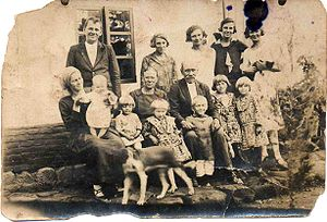 Navidad de 1925 de 3 generaciones de la Famili...