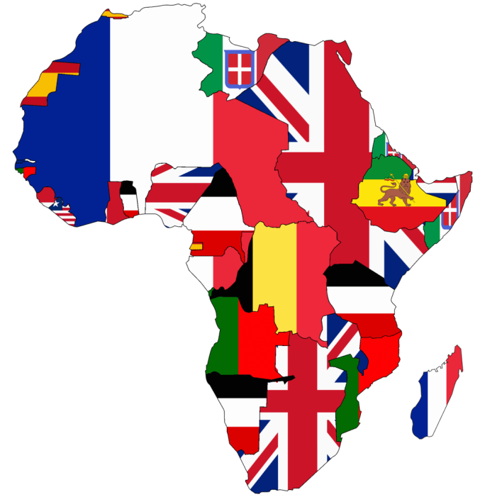 Flag map of Colonial Africa (1913)