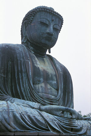 The Great Buddha statue, Kōtoku Temple, Kamaku...