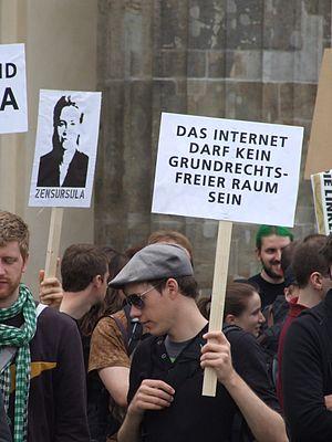 Mahnwache Netzzensur 2009 04