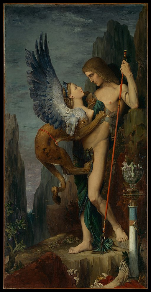 """Oedipus and the Sphinx"" by Gustave Moreau"