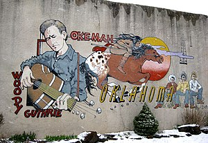 English: Mural at 510 West Broadway, Hwy. 56, ...