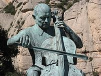 A centenary statue of :en:Pau Casals at Montse...