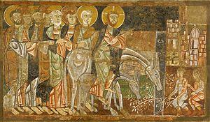 Español: Entrada de Jesús en Jerusalén, fresco...
