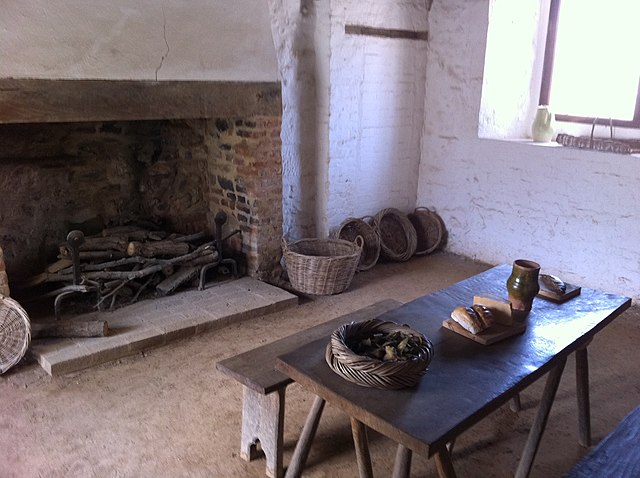 Medieval house kitchen
