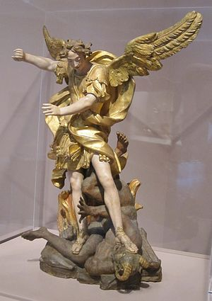 English: Saint Michael Overcoming the Forces o...