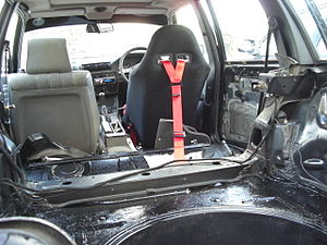 Stripped out car interior