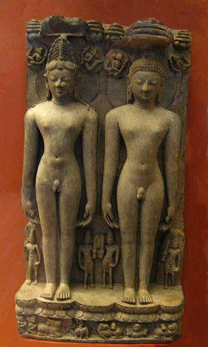 Sculpture of the two Jain tirthankaras Rishabh...