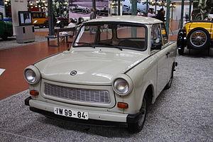 A Trabant 601 Limousine. Trabants were manufac...