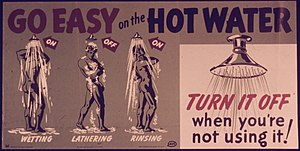 """Go Easy on the Hot Water"" - NARA - ..."