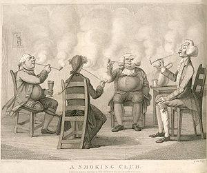 """A Smoking Club"" - An illustration i..."