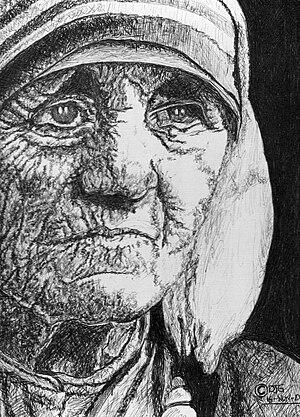 English: The Inspirational Mother Teresa. Medi...