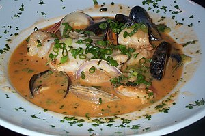 Paleolithic-style dish: seafood stew