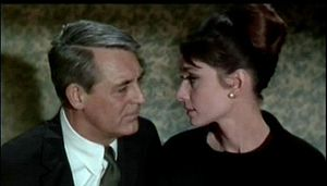 Screenshot of Cary Grant and Audrey Hepburn fr...