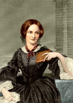 Charlotte Brontë, idealiserat porträtt, 1873, efter skiss av George Richmond, 1850