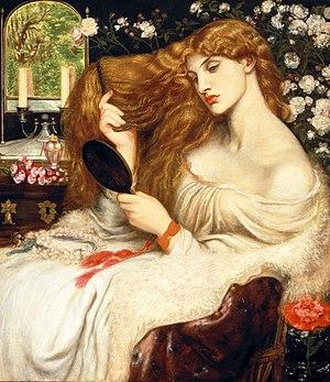 Lady Lilith by Dante Gabriel Rossetti. The sym...