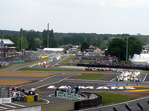 The rolling start of 24 Hours of Le Mans 2008