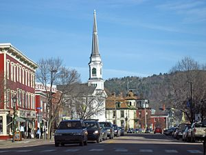 Main Street, Montpelier, Vermont showing the s...