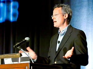 English: Nicholas Carr speaking at the 12th An...
