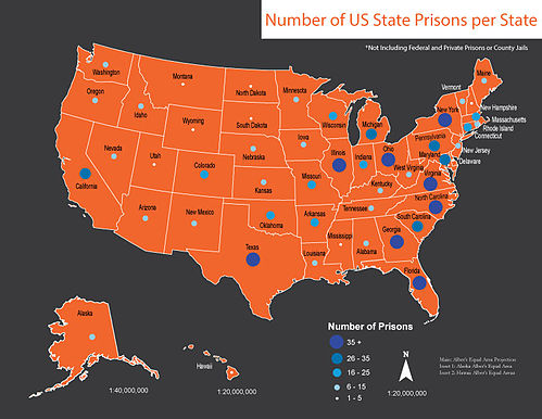 US State Prisons Per State