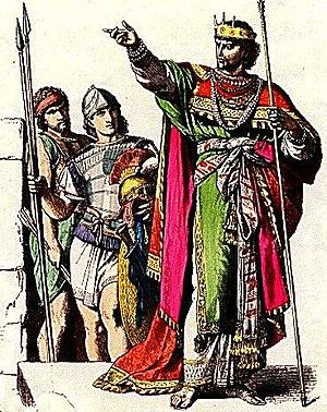 Jewish King and soldiers in ancient Judah.