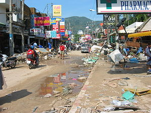 Patong Beach on Phuket affected by the tsunami...