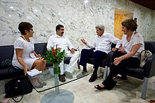 Maduro meeting with U.S. Secretary of State John Kerry, 26 September 2016