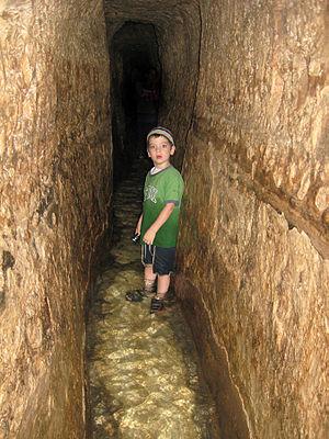 Hezekiah's Tunnel, photo credit: Tamar Hayardeni