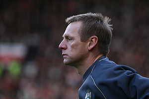 Stuart Pearce, manager of Manchester City F.C.