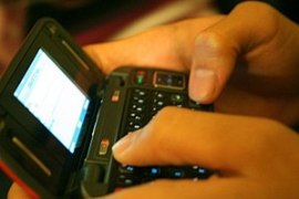 Texting on a keyboard phone