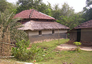 A village hut in West Midnapur district in Wes...