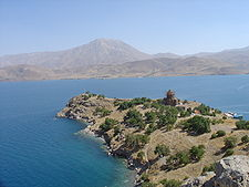 Isla de Akdamar, residencia del rey Gagik I (908-944)