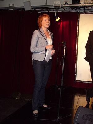 Annie Johansson, member of Centerpartiet, at a...