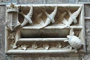 Mailbox of Casa de l'Ardiaca, Barcelona, Catal...