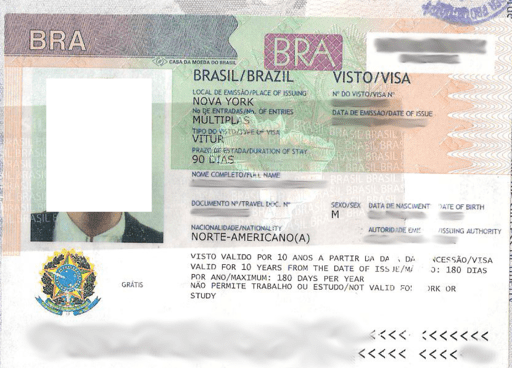 Brazil visa blurred 2