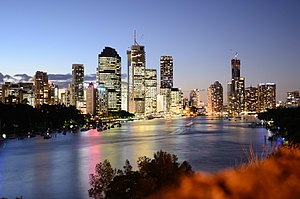 English: Brisbane from Kangaroo Point.