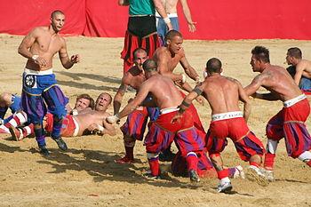 English: Calcio Storico - 24.06.2008 - Azzurri...