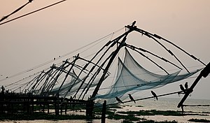 chinese fishing nets found in fort cochin kerala