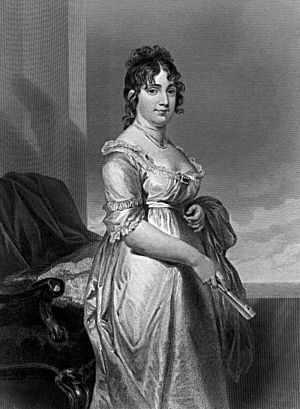 Dolley Madison, First Lady of the United States.