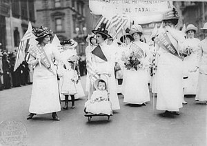 Feminist suffrage parade in New York City, May...