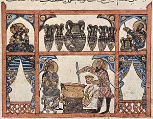 Irakischer Maler des Kräuterbuchs des Dioskuri...