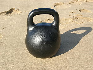 "Picture of a kettlebell or ""girya"" (..."