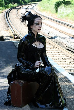 English: Gothic Model Lady Amaranth wearing Ni...