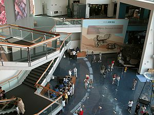 Maryland Science Center, lobby, Baltimore, Mar...