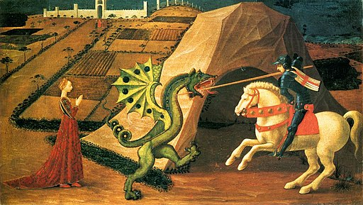 Saint George and the Dragon by Paolo Uccello (Paris) 01