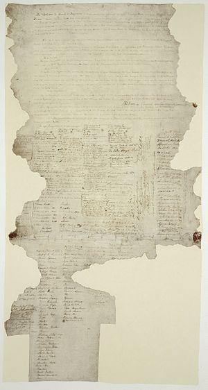 The Waitangi Sheet of the Treaty of Waitangi, ...