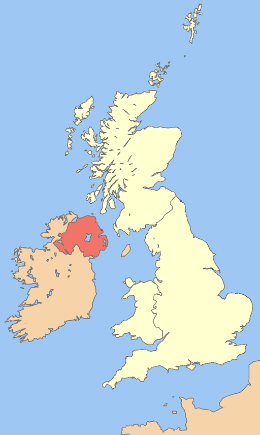 Uk map northern ireland