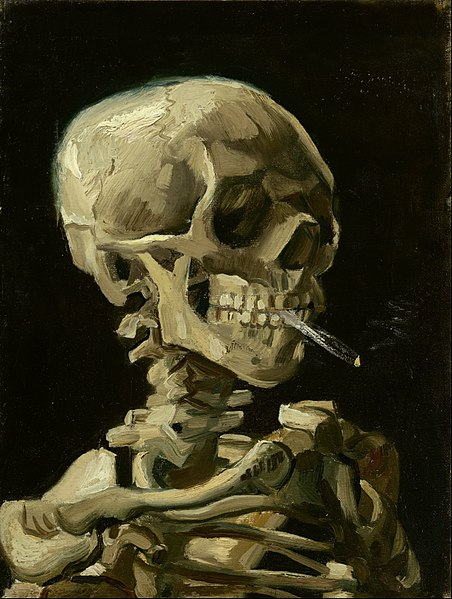 File:Vincent van Gogh - Head of a skeleton with a burning cigarette - Google Art Project.jpg