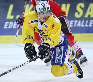 English: Marc Wieser, Swiss Icehockey Player D...