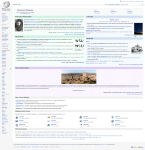 A Screenshot of the Wikipedia homepage, using ...